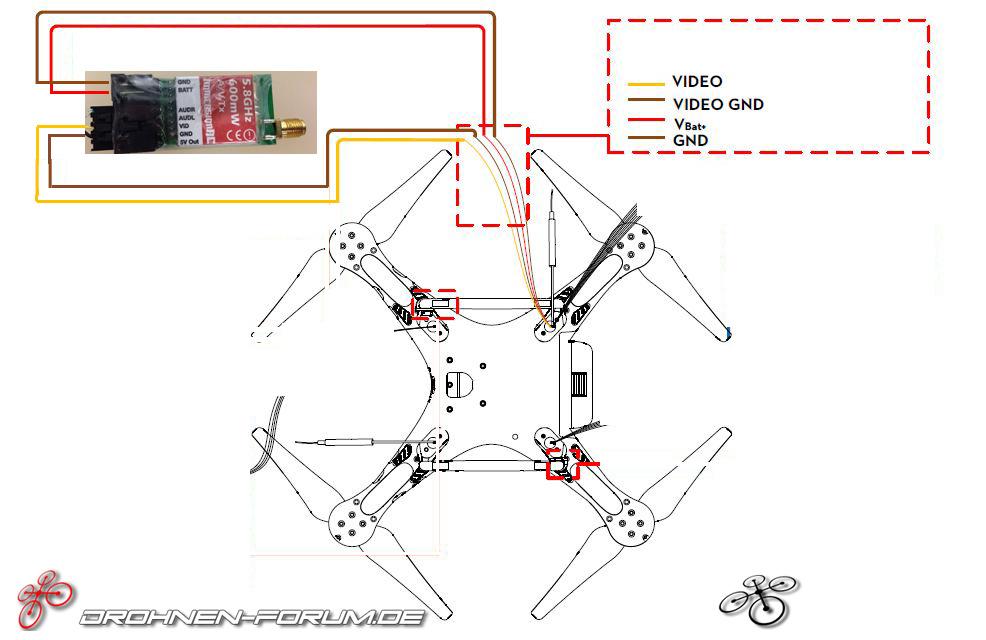 Anleitung: Montage iOSD mini / FPV Transmitter an Dji Phantom 2 ...