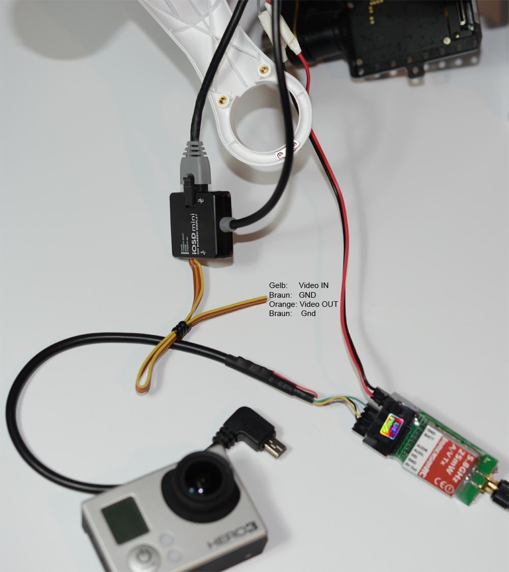 DJI Phantom + Mini OSD Verkabelung - Dji - Phantom 1 - Drohnen ...
