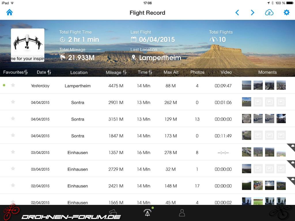 Phantom 4 Pro Drone >> Flight Recorder - Anleitung / Beschreibung - Dji - Inspire - Drohnen-Forum.de - Quadrocopter ...